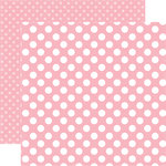 Echo Park - Dots and Stripes Collection - Spring - 12 x 12 Double Sided Paper - Pink Flamingo Dot
