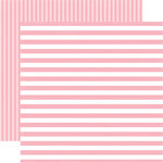 Echo Park - Dots and Stripes Collection - Spring - 12 x 12 Double Sided Paper - Pink Flamingo Stripe