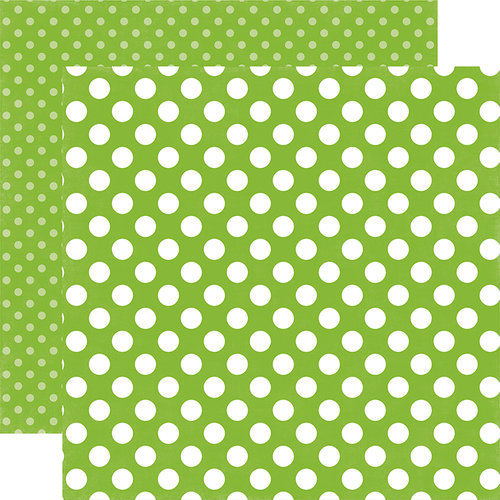 Echo Park - Dots and Stripes Collection - Spring - 12 x 12 Double Sided Paper - Lime Twist Dot