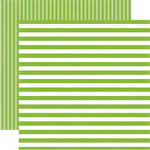 Echo Park - Dots and Stripes Collection - Spring - 12 x 12 Double Sided Paper - Lime Twist Stripe