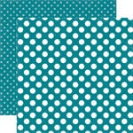 Echo Park - Dots and Stripes Collection - Spring - 12 x 12 Double Sided Paper - Coastal Crush Dot