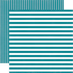 Echo Park - Dots and Stripes Collection - Spring - 12 x 12 Double Sided Paper - Coastal Crush Stripe