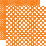 Echo Park - Dots and Stripes Collection - Spring - 12 x 12 Double Sided Paper - Tangerine Tango Dot