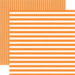 Echo Park - Dots and Stripes Collection - Spring - 12 x 12 Double Sided Paper - Tangerine Tango Stripe