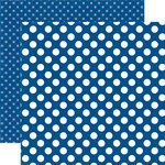 Echo Park - Dots and Stripes Collection - Summer - 12 x 12 Double Sided Paper - Blue Lagoon Dot