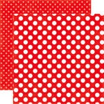 Echo Park - Dots and Stripes Collection - Summer - 12 x 12 Double Sided Paper - Tugboat Dot