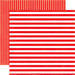 Echo Park - Dots and Stripes Collection - Summer - 12 x 12 Double Sided Paper - Tugboat Stripe