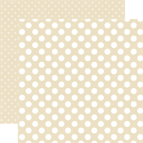 Echo Park - Dots and Stripes Collection - Summer - 12 x 12 Double Sided Paper - Pearl Dot