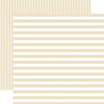 Echo Park - Dots and Stripes Collection - Summer - 12 x 12 Double Sided Paper - Pearl Stripe