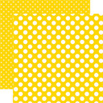 Echo Park - Dots and Stripes Collection - Summer - 12 x 12 Double Sided Paper - Submarine Dot