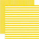 Echo Park - Dots and Stripes Collection - Summer - 12 x 12 Double Sided Paper - Submarine Stripe