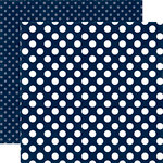 Echo Park - Dots and Stripes Collection - Summer - 12 x 12 Double Sided Paper - Nautical Navy Dot