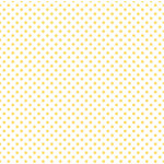 Echo Park - Dots and Stripes Collection - Easter Vellum Dot - 12 x 12 Vellum - Yellow Sunshine