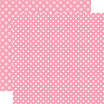 Echo Park - Dots and Stripes Collection - Spring - 12 x 12 Double Sided Paper - Raspberry Dot