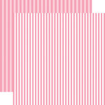 Echo Park - Dots and Stripes Collection - Spring - 12 x 12 Double Sided Paper - Raspberry Stripe