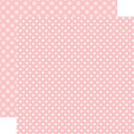 Echo Park - Dots and Stripes Collection - Spring - 12 x 12 Double Sided Paper - Strawberry Dot