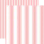 Echo Park - Dots and Stripes Collection - Spring - 12 x 12 Double Sided Paper - Strawberry Stripe