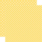 Echo Park - Dots and Stripes Collection - Spring - 12 x 12 Double Sided Paper - Banana Cream Dot