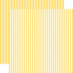Echo Park - Dots and Stripes Collection - Spring - 12 x 12 Double Sided Paper - Banana Cream Stripe