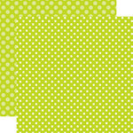 Echo Park - Dots and Stripes Collection - Spring - 12 x 12 Double Sided Paper - Key Lime Dot