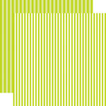 Echo Park - Dots and Stripes Collection - Spring - 12 x 12 Double Sided Paper - Key Lime Stripe