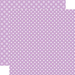 Echo Park - Dots and Stripes Collection - Spring - 12 x 12 Double Sided Paper - Huckleberry Dot