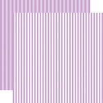 Echo Park - Dots and Stripes Collection - Spring - 12 x 12 Double Sided Paper - Huckleberry Stripe
