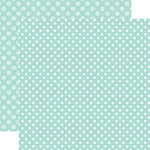 Echo Park - Dots and Stripes Collection - Spring - 12 x 12 Double Sided Paper - Blueberry Dot