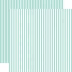 Echo Park - Dots and Stripes Collection - Spring - 12 x 12 Double Sided Paper - Blueberry Stripe