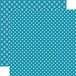 Echo Park - Dots and Stripes Collection - Summer - 12 x 12 Double Sided Paper - Splash Dot