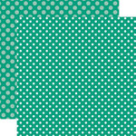 Echo Park - Dots and Stripes Collection - Summer - 12 x 12 Double Sided Paper - Sea Turtle Dot