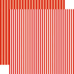 Echo Park - Dots and Stripes Collection - Summer - 12 x 12 Double Sided Paper - Lifeguard Stripe
