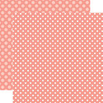 Echo Park - Dots and Stripes Collection - Summer - 12 x 12 Double Sided Paper - Coral Reef Dot
