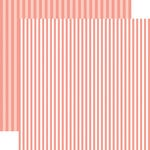 Echo Park - Dots and Stripes Collection - Summer - 12 x 12 Double Sided Paper - Coral Reef Stripe