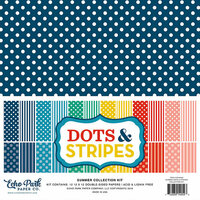 Echo Park - Dots and Stripes Collection - Summer - 12 x 12 Collection Kit - Two