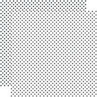 Echo Park - Dots and Stripes Collection - 12 x 12 Double Sided Paper - White