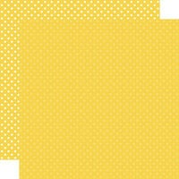 Echo Park - Dots and Stripes Collection - 12 x 12 Double Sided Paper - Yellow