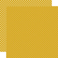 Echo Park - Dots and Stripes Collection - 12 x 12 Double Sided Paper - Mustard