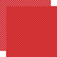 Echo Park - Dots and Stripes Collection - 12 x 12 Double Sided Paper - Red