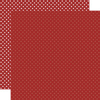 Echo Park - Dots and Stripes Collection - 12 x 12 Double Sided Paper - Burgundy