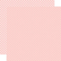 Echo Park - Dots and Stripes Collection - 12 x 12 Double Sided Paper - Blush