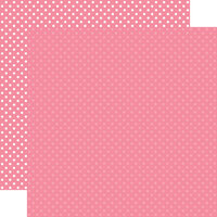 Echo Park - Dots and Stripes Collection - 12 x 12 Double Sided Paper - Bubblegum Pink