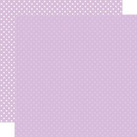Echo Park - Dots and Stripes Collection - 12 x 12 Double Sided Paper - Light Purple