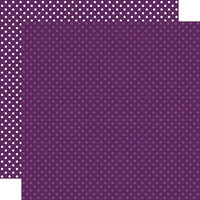 Echo Park - Dots and Stripes Collection - 12 x 12 Double Sided Paper - Purple