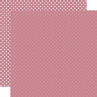 Echo Park - Dots and Stripes Collection - 12 x 12 Double Sided Paper - Mauve