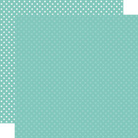 Echo Park - Dots and Stripes Collection - 12 x 12 Double Sided Paper - Teal