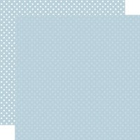 Echo Park - Dots and Stripes Collection - 12 x 12 Double Sided Paper - Sky Blue