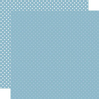 Echo Park - Dots and Stripes Collection - 12 x 12 Double Sided Paper - Blue