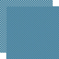 Echo Park - Dots and Stripes Collection - 12 x 12 Double Sided Paper - Medium Blue