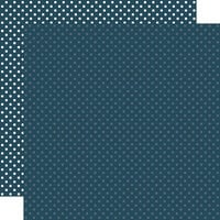 Echo Park - Dots and Stripes Collection - 12 x 12 Double Sided Paper - Navy